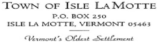 Town of Isle La Motte, VT